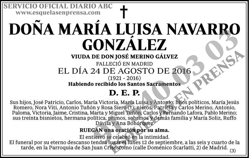 María Luisa Navarro González